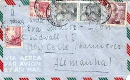 SPANIEN 1948 - 5 Fach Frankierung Auf LP-Brief Gel.v.Tenerife > Celle - 1931-Heute: 2. Rep. - ... Juan Carlos I