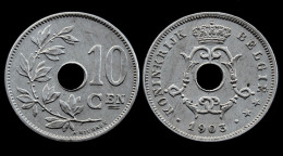 10 Centimes 1903 Belgique. Cu-Ni. XF - 1865-1909: Leopoldo II