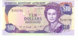 Bermudas 10 Dollars (1997) UNC - Bermudas