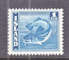 ICELAND  217 A   Perf  14 X 13 1/2    *    FAUNA  FISH - 1918-1944 Autonomous Administration