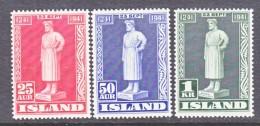 ICELAND  237-9     * - Unused Stamps