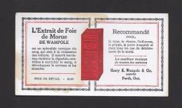 BUVARDS - BLOTTING PAPER - EXTRAIT DE FOIE DE MORUE DE WAMPOLE - HENRY K. WAMPOLE & CIE PERTH ON - 16 X 9cm - 6¼ X 3½ Po - Produits Pharmaceutiques