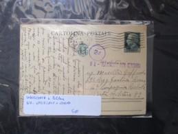 1941 Cartolina Postale Cent. 15 VERIFICATO Per CENSURA Napoli Indirizzata A Posta Militare - Stamped Stationery