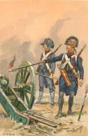 Militaria, Illustrateur Toussaint, Artillerie 1792 - Uniformen
