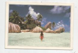 Cp , SEYCHELLES , The Royal Cove , The Breakwater , L'anse Royale , Vierge , Femme En Maillot De Bain - Seychelles