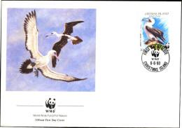 MARINE BIRDS-WWF-ABBOTT´S BOOBY-CHRISTMAS ISLANDS-FDC-1990-BX1-345 - Covers & Documents