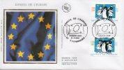 """France - FDC Du 1er Décembre 2001, Conseil De L´Europe """"Tomi UNGERER"""" (Strasbourg, 67) - FDC"""