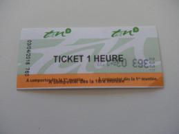 Ticket De Transport - NANTES - TRAMWAY - - Tramways