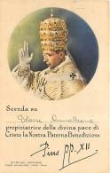 BENEDIZIONE AD PERSONAM DI PAPA PIO XII. VIAGGIATA 1942 DA ROMA A TRIESTE - Papes