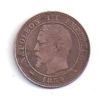 2 Centimes Napoléon III  1854 BB - France