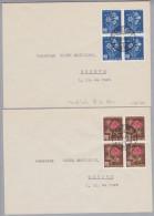 Schweiz Pro Juventute 1948-12-13 4 Briefe Mit 4-er-Block Satz - Lettres & Documents