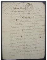1752 Généralité D´Auch, Muret, Vente Lasseube à Beruz - Manuscrits