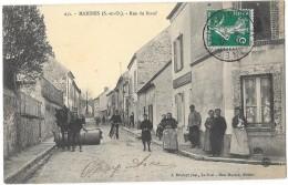 MARINES (95) Rue Du Boeuf Attelage Rouleau Belle Animation - Marines