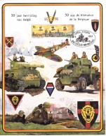 B02 - FS - Feuillet Souvenir - COB 2571 - 1944-1994 - 50 Ans - La Libération De La BelgiQUE - Du 03-9-1994 - Bruxelles 1 - Cartoline Commemorative