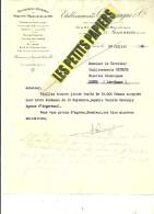95 - Val D'oise - SANNOIS - Facture CHAMPAGNE - Charpente - Menuiserie - Serrurerie – 1930 - REF 227D - Francia