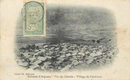 COMORES - SULTANA D´ANJOUAN - VUE DE CHANDA - VILLAGE DE L´INTERIEUR - TIMBRE DE MADAGASCAR - CPA -  édit;Th. HEBRAUD. - Comores