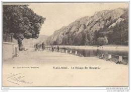WAULSORT ..-- HASTIERE ..-- Halage Des Bateaux . 1902 Vers ENGHIEN - LES - BAINS ( Melle L. Rochefort ) . Voir Verso . - Hastière