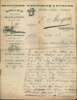 44 - ABBARETZ - FACTURE MACHINES AGRICOLES E. MOYON - Agriculture