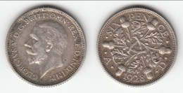 **** GRANDE-BRETAGNE - GREAT-BRITAIN - 6 PENCE 1928 - SIX PENCE 1928 GEORGE V - SILVER **** EN ACHAT IMMEDIAT !!! - H. 6 Pence
