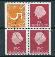 1971 Netherlands Combinatie Uit Postzegelboekje Used/gebruikt/oblitere - Postzegelboekjes En Roltandingzegels