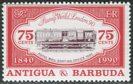Antigua & Barbuda 1990. Michel #1355 MNH/Luxe. Train (Ts10) - Eisenbahnen