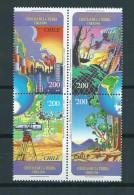 1996 Chili Complete Set/blok Van 4 Ciencas De La Tierra MNH/Postfris/Neuf Sans Charniere - Chili