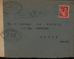 Guerre 39/45 Censure Lot Et Garonne 47 Nerac Censure Agen YT 433 - Historical Documents