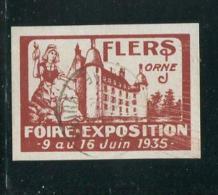 "1935 Flers Orne Fiore Exposition Poster Stamp Vignette Reklamemarke Hinged  2 X 1 3/8"" - Cinderellas"