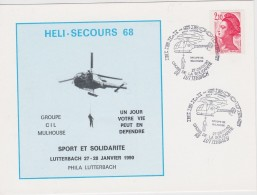 FRANCE    OBLITERATION  HELICOPTERES - Hubschrauber