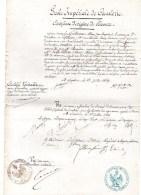L.A.S.école Impériale De Cavalerie. M.DE LA PIERRE(charles-hubert-eugène-xavier) Saumur 12 Juillet 1869 - Historische Documenten