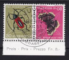 Schweiz Kehrdruck 1953 Zu#K44 ET-Voll-O Pro Juventute - Tête-Bêche