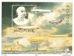 Albania 2000 _ The 100-th Anniversary Of Zeppelin _ Minisheet MNH ** - Albania