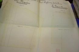 Finage D´AUXON.propriétés Appartenant à Mademoiselle LENFUMEY DE LA PIERRE.A.ERVY,géomètre.AUBE.23 Octobre 1911 - Technical Plans