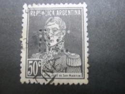 FIRMENLOCHUNG , Perfin, 2 Scans, Perforation - Argentinien