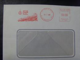 16545- Lettre Avec EMA Ancienne (1968) Sté CNP Thème Bateau, Tanker Sur Enveloppe De La Sté - Barcos