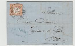 EL122 /  ELSASS - Ortsbrief Mühlhausen, Hufeisenstempel 1875 Auf Michel Nr. 18(klare Prägung) - Deutschland