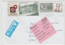 B350 / BELGIEN -  Retourbrief Nach Spanien 2016 - Belgium