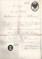Document Sur Papier -filigranne Aigle Impérial)-1861-St Petersburg-22cmx36- - 1857-1916 Imperium