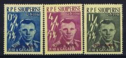Albania: 1962 Michel Airmail 647a - 649a MNH/** Postfrisch Juri A Gagarin - Albanien