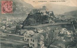 LOURDES - Château Et La Ville - Lourdes