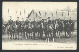 CPA - CAMP DE BEVERLOO - Peloton Du 2me Régiment De Lanciers - Soldat Armée - Militaire  // - Leopoldsburg (Camp De Beverloo)