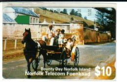 NORFOLK ISLAND $10 CHILDREN HORSE ANIMAL 1ST ISSUE MINT NOR-02 READ DESCRIPTION !! - Norfolk Island