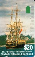 NORFOLK ISLAND $20 SHIP 1ST ISSUE MINT NOR-03 READ DESCRIPTION !! - Norfolk Eiland