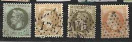 Emission Empire Lauré N° 25 - 28A - 30 Et 31 -  TB - 1863-1870 Napoleone III Con Gli Allori
