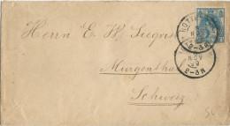 NEDERLAND - 1899 - ENVELOPPE De ROTTERDAM Pour MURGENTHAL (SUISSE) - - Periode 1891-1948 (Wilhelmina)