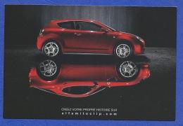 CARTE THÈME AUTOMOBILE ALFA ROMÉO MITO CRÉEZ VOTRE HISTOIRE - Publicidad