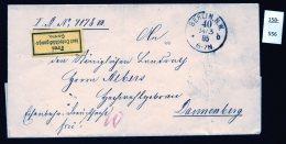 Germany : 1885 Eisenbahn Railway Free Frank From Berlin. Scarce 'Frei Laut Entschädigungs-Conto' Etiquette - Germany