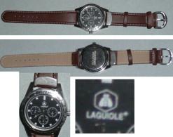 Rare Montre à Quartz Publicitaire LAGUIOLE, ATLAS For Man Watch, Bracelet Cuir - Orologi Pubblicitari