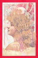 Fant-762A76  Femme Blonde Avec Cheveux Véritables, Cpa BE - Femmes