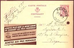 Briefkaart - Postkaart - CP - Publibel 722 -  Nandrin Naar  Huy - 1948 - Entiers Postaux